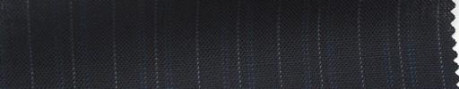 【Ib_5s152】濃紺地ブルードット縞+8ミリ巾白ストライプ