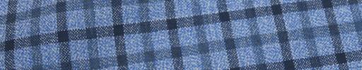 【Mjt_8s07】ブルー杢+2cm×2cmネイビー・ダスティーブルーオーバープレイド
