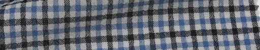 【Mjt_6s37】ブルー・白・黒1cm角ファンシープレイド