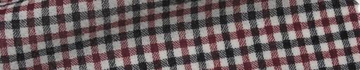 【Mjt_6s36】赤・白・黒1cm角ファンシープレイド