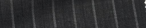 【Ew_5s012】チャコールグレー地+1.6cm巾白・織り交互ストライプ