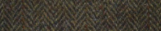 【Ht_5w008】茶グリーン1.6cm巾ヘリンボーン+ブラウンウィンドウペーン