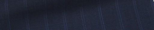 【Msh_6s47】紺地+1.4cm巾ブルー・織りストライプ