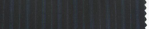 【P_6s15】黒地+9ミリ巾ブルー交互ストライプ