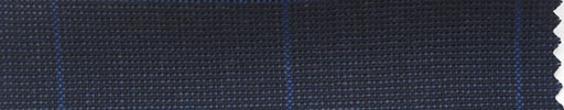 【Ha_fr73】ダークブルー・ピンチェック+4.5×4cmブルー・ウィンドウペーン