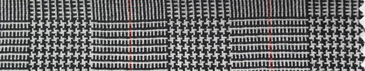 【Ha_fr80】白黒グレンチェック+5.5×4cm赤ウィンドウペーン