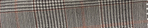 【Ha_fr84】白ブラウングレンチェック+5×4cmオレンジオーバープレイド