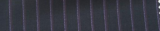 【Hs_ts14】黒紺地+8ミリ巾パープル・白ストライプ