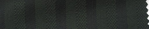 【Hs_ts27】ダークグリーン柄+2cm巾織りストライプ