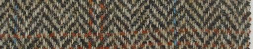 【Ht_6w312】茶イエロー1.6cm巾ヘリンボーン+オレンジ・ブループレイド