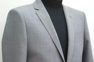 ライトグレー杢柄スーツ