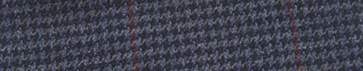 【Ew_5w028】ブルー・ダークグレーハウンドトゥース+7×5.5cm赤プレイド