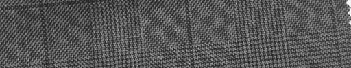 【Ha_fc38】グレー黒グレンチェック+6×5cm黒プレイド