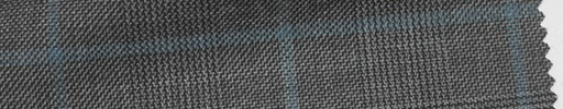 【Ha_fc60】グレーグレンチェック+6×4cmブループレイド