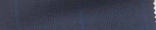 【Ha_fc62】紺黒グレンチェック+6×4cmブループレイド