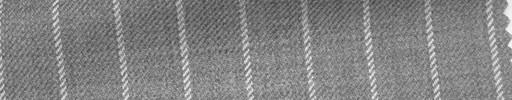 【Ha_fc65】ライトグレー地+1.4cm巾白ストライプ