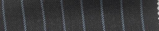 【Ha_fc70】チャコールグレー地+1.4cm巾ライトブルーストライプ