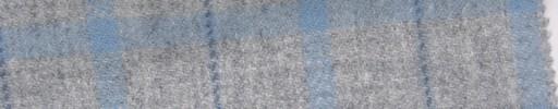 【Mi_5w031】ライトグレー地+5.5×5cm水色×ブループレイド