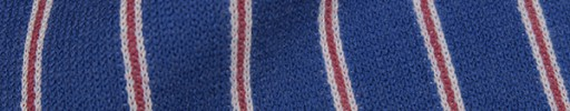 【Wool-jersey02】ライトネイビー+2cm巾赤・白ストライプ