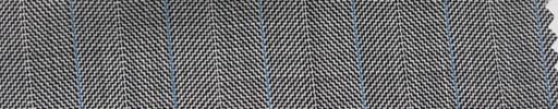 【Hs_pc27】白黒1.7cm巾ヘリンボーン+ブルー・白交互ストライプ