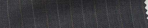 【Hs_pc28】チャコールグレー1.7cm巾ヘリンボーン+ブラウン・白交互ストライプ