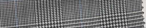 【Hs_pc34】白黒グレンチェック+水色オーバープレイド