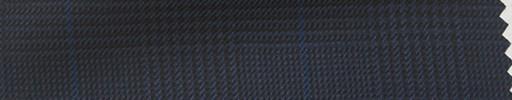 【Hs_pc35】紺黒グレンチェック+ブルーオーバープレイド