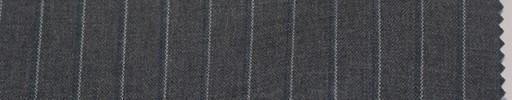 【La_6s012】ミディアムグレー地+9ミリ巾白ドット・ブルー織りストライプ