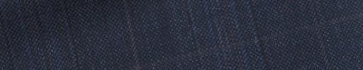 【E_9s266】ブルーグレーチェック+5.5×4.5cmブラウンウィンドウペーン