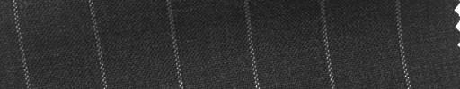 【Hs_cb07】チャコールグレー地+1.6cm巾白ストライプ