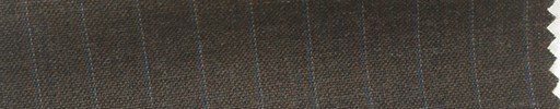【Hs_cb13】ダークブラウン地+9ミリ巾ブルー・白ストライプ