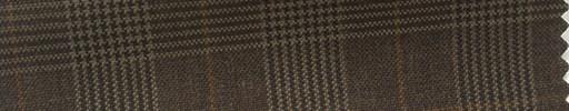 【Hs_cb14】ダークブラウングレンチェック+4.5×3.5cmブラウンウィンドウペーン