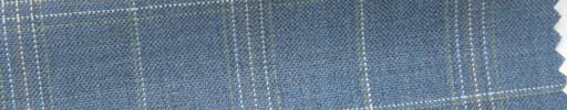 【Hs_cb16】ライトブルー地+5.5×4cmベージュ・イエロー・白プレイド