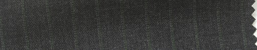 【Hs_cb20】チャコールグレー地+9ミリ巾グリーンWドットストライプ
