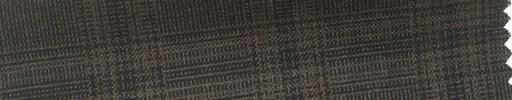 【Hs_cb25】ブラウン地+4.5×3.5cm黒プレイド