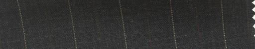 【Hs_cb37】チャコールグレー地+2cm巾ブラウン・イエロー交互ストライプ