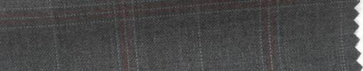 【Hs_cb38】ミディアムグレー地+5.5×4cm赤・グレープレイド