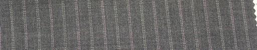 【Mi_co6s40】グレー地+1.2cm巾ピンク・白交互ドットストライプ