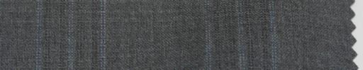【P_6s03】ミディアムグレー地+5×4.5cm水色・織りファンシープレイド
