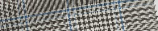 【Ha_Ica15】ブラウン7.5×6.5cmファンシーチェック+ブループレイド