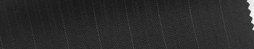 【Sb_6s008】黒ブロークンヘリンボーン柄+1.2cm巾白ストライプ