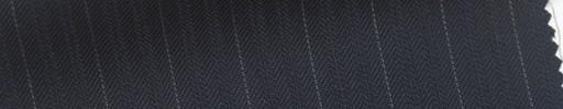 【Sb_6s009】濃紺ブロークンヘリンボーン柄+1.2cm巾白ストライプ