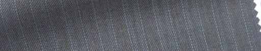 【Sb_6s021】ミディアムグレー地+1cm巾水色・織りストライプ
