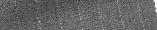 【Cb_6s033】ミディアムグレー+1.1cm巾白ストライプ