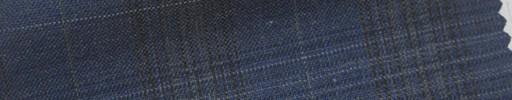 【Cb_6s065】ネイビーファンシーチェック+4.5×4cm白プレイド
