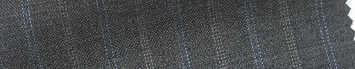 【Cb_6s073】ミディアムグレー+1.7cm巾水色・ドット交互ストライプ