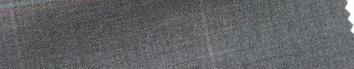 【Cb_6s081】ミディアムグレー+6.5×5cm薄赤・薄青プレイド
