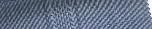 【Mjt_6s24】ライトネイビーファンシーチェック+8.5×6cmパープルウィンドウペーン