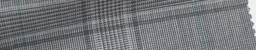 【Mjt_6s25】ライトグレーファンシーチェック+8.5×6cmグリーンウィンドウペーン