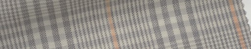 【Mjt_6s26】グレージュファンシーチェック+6×5cmオレンジウィンドウペーン